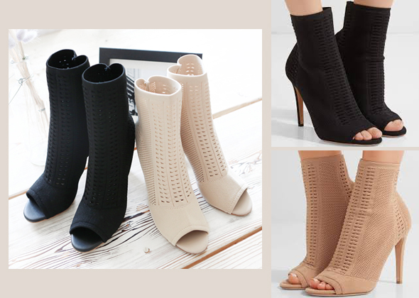 rossi knit ankle heel