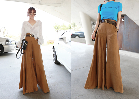 wide pants (brown)