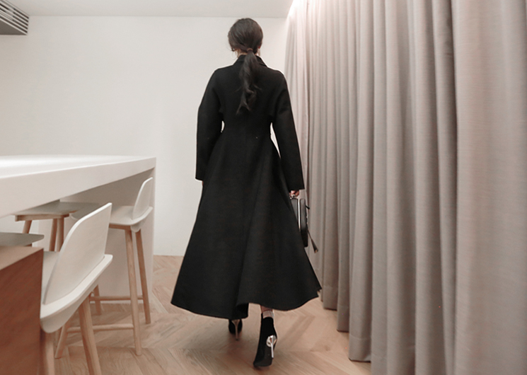like long coat (black)