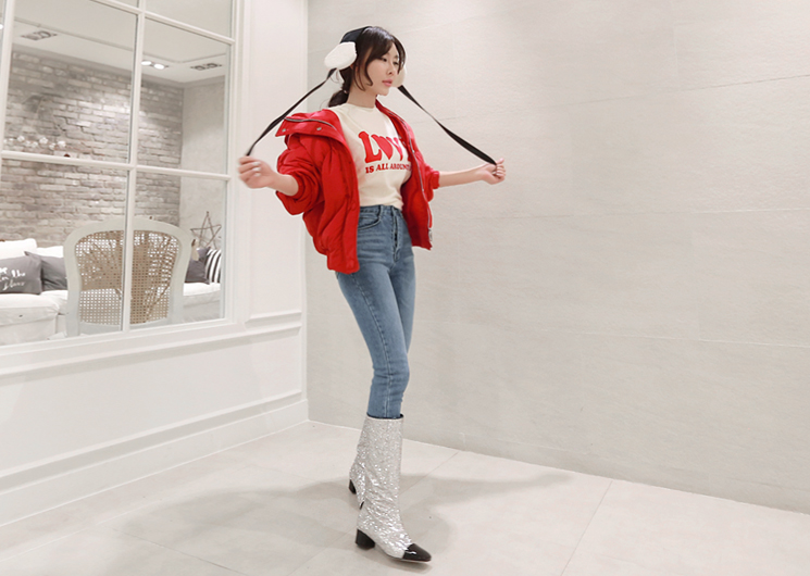 bubble jumper (red)