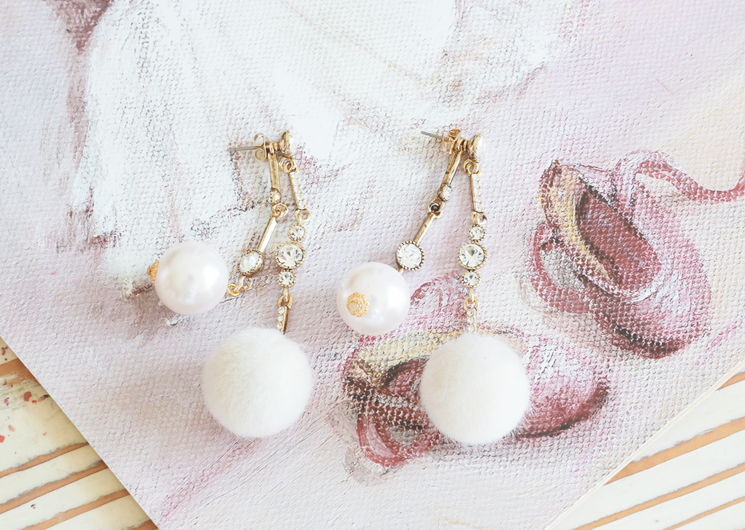 snow pearl earing