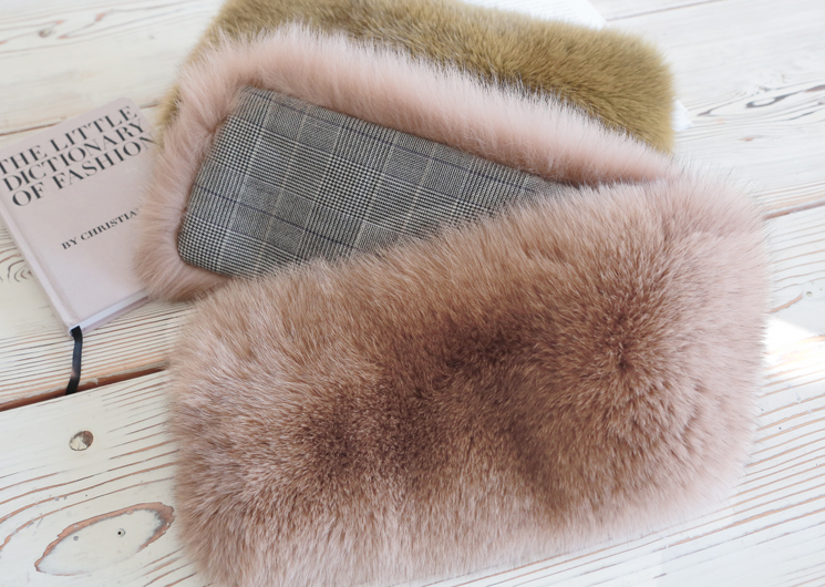 check pastel fox fur