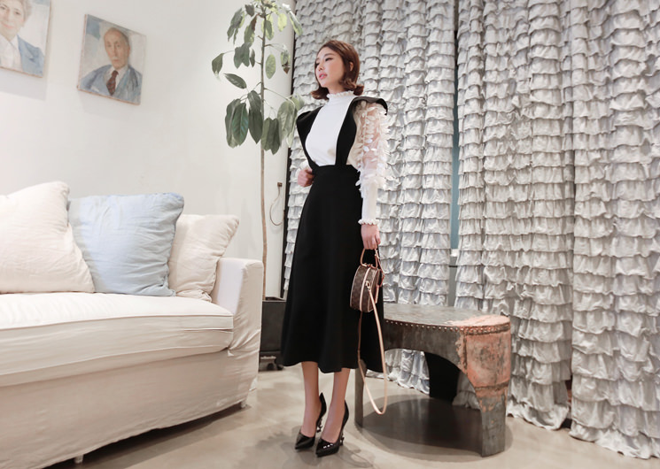 sweet talk suspender skirt