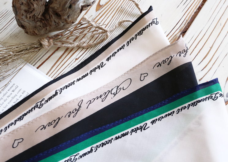 lettering scarf