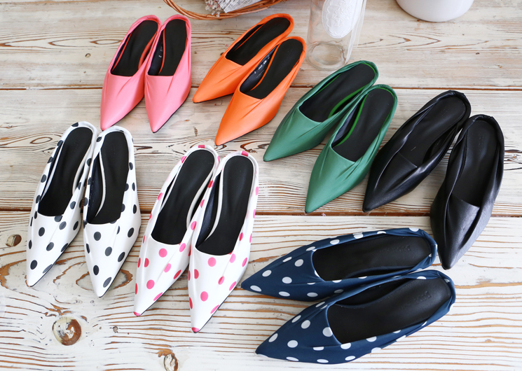 rainbow flat shoes