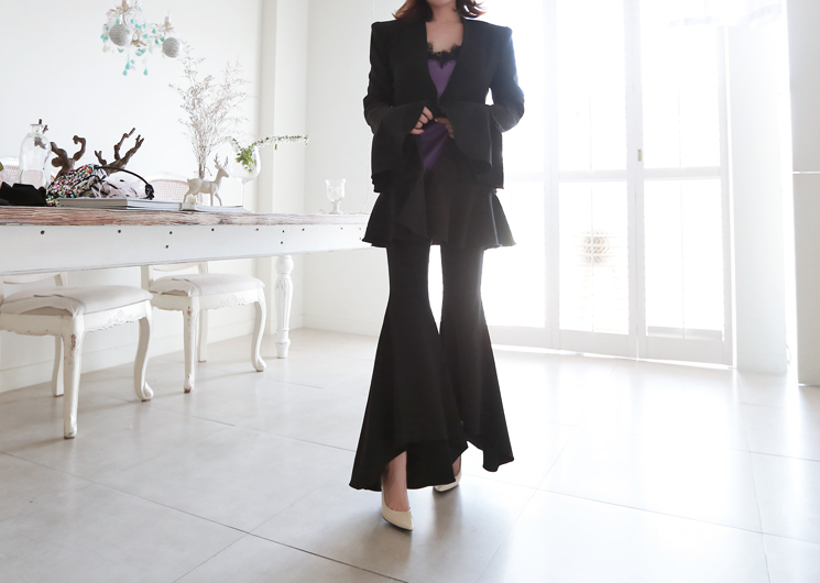giselle flare pants (black)
