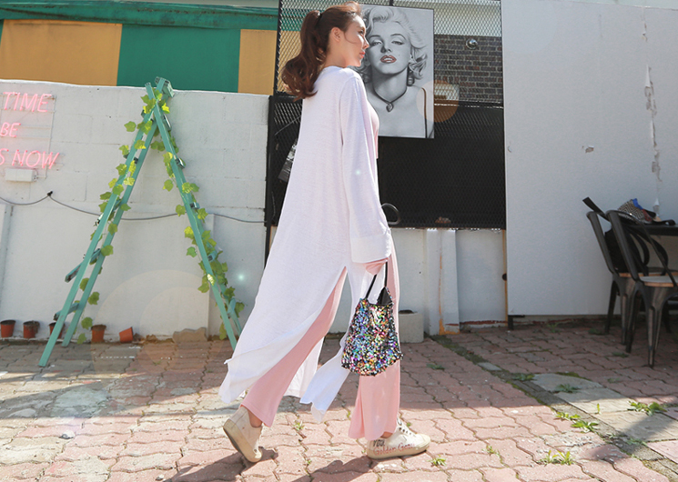 slim robe cardigan (ivory)