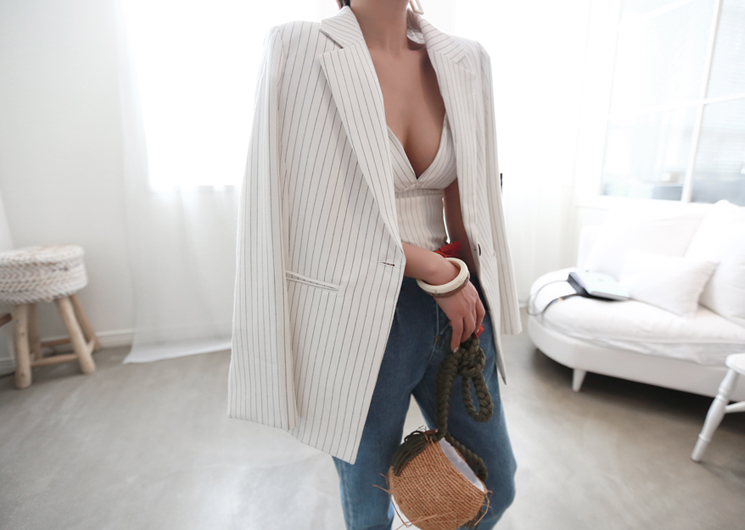 inside stripe jacket (ivory)