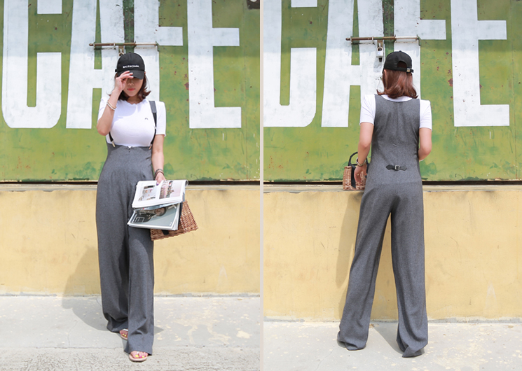 modern suspender pants