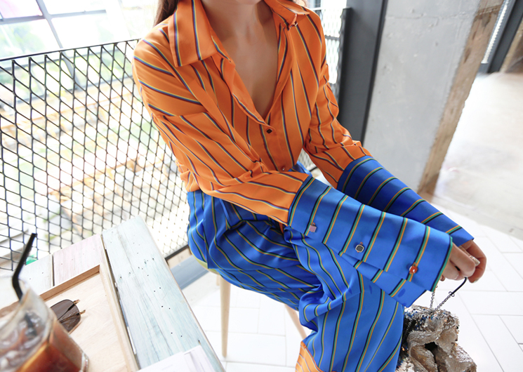 sunset blouse (orange)