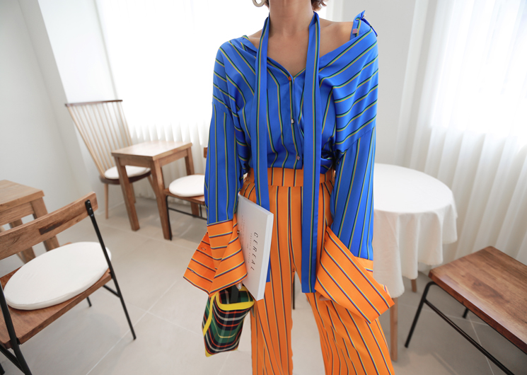 sunset blouse (blue)