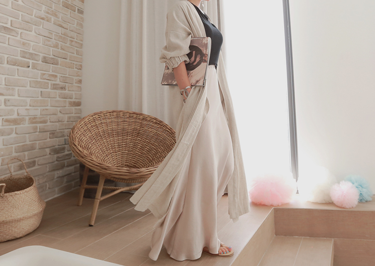 ready long cardigan (beige)