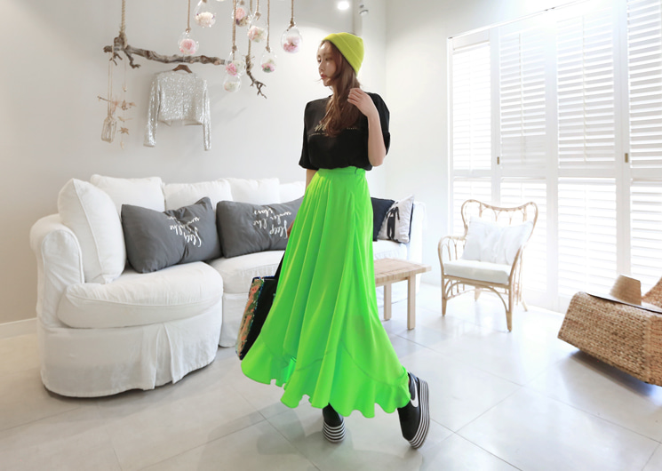 meme frill skirt (green)