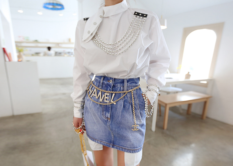 off denim skirt