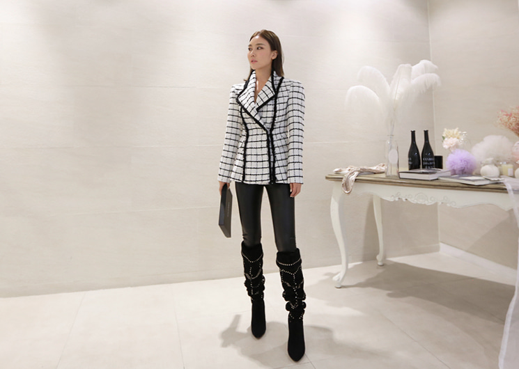 mono chess jacket (ivory)